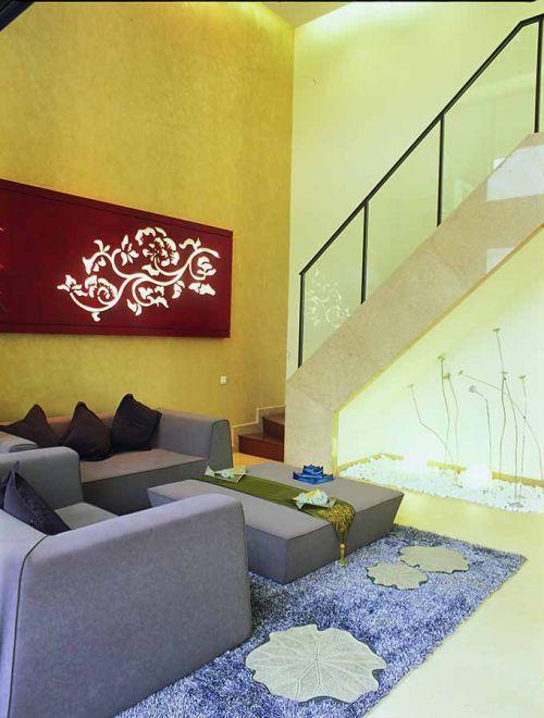 中式元素客廳裝修案例