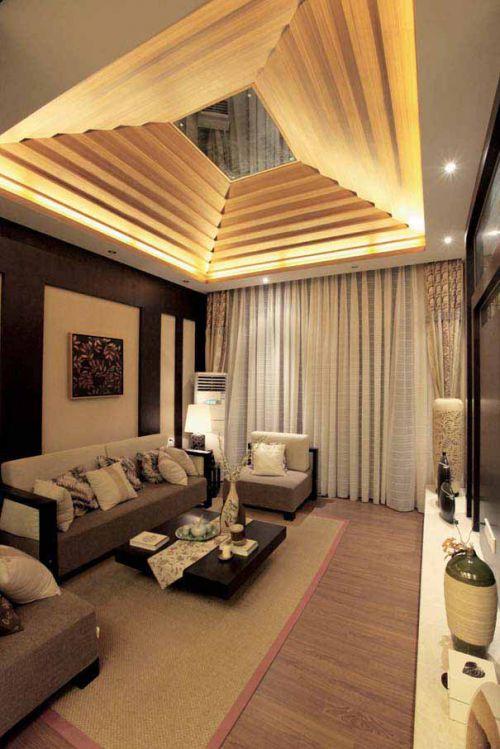 層次鮮明中式簡約客廳裝潢設計