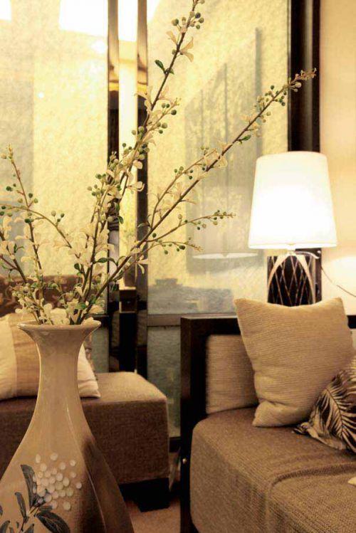 中式雅致客廳設計局部效果圖