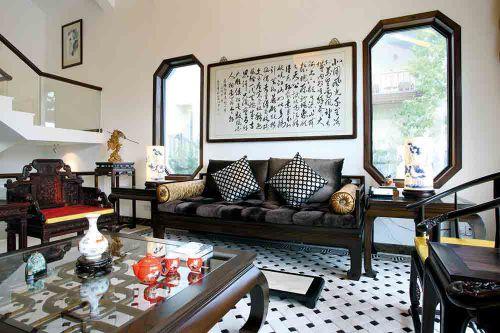 中式典雅客廳裝修布置
