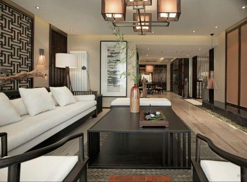 中式風格米色雅致客廳裝修效果圖