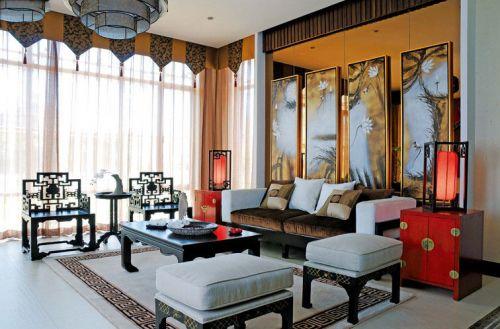 大气复古经典中式风格客厅装修美图