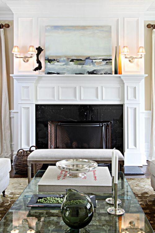优雅唯美田园风格白色客厅图片欣赏
