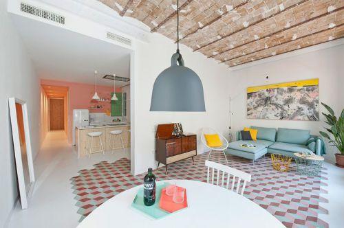 米色田园风格温馨客厅设计装潢