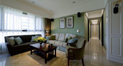 田园风格绿色清新客厅装修图