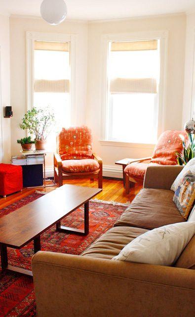 田园彩色客厅案例欣赏