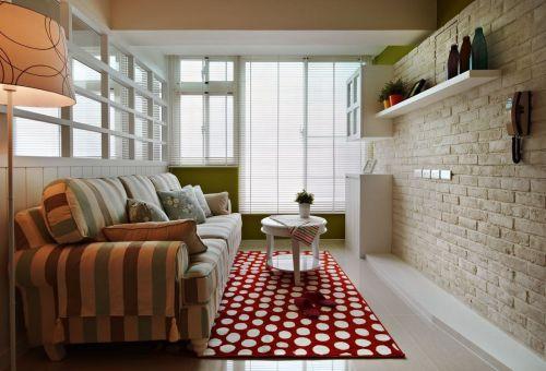 田园风清新米色客厅效果图设计