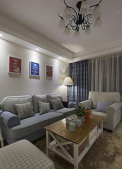 美式浪漫田园风格客厅装潢美图赏析