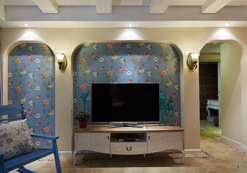 蔚蓝地中海电视背景墙欣赏