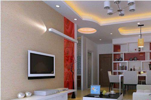 现代简洁时尚客厅装修效果图