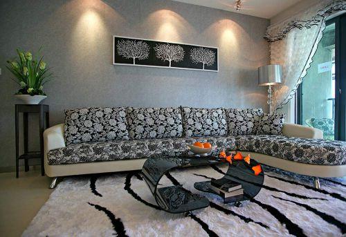 现代灰色客厅装修案例欣赏