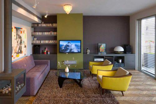 摩登个性现代风格客厅设计整体效果图片