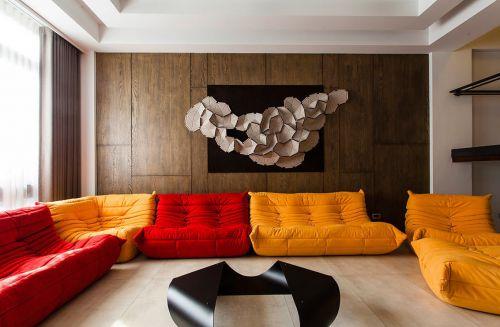现代创意十足客厅装饰布置