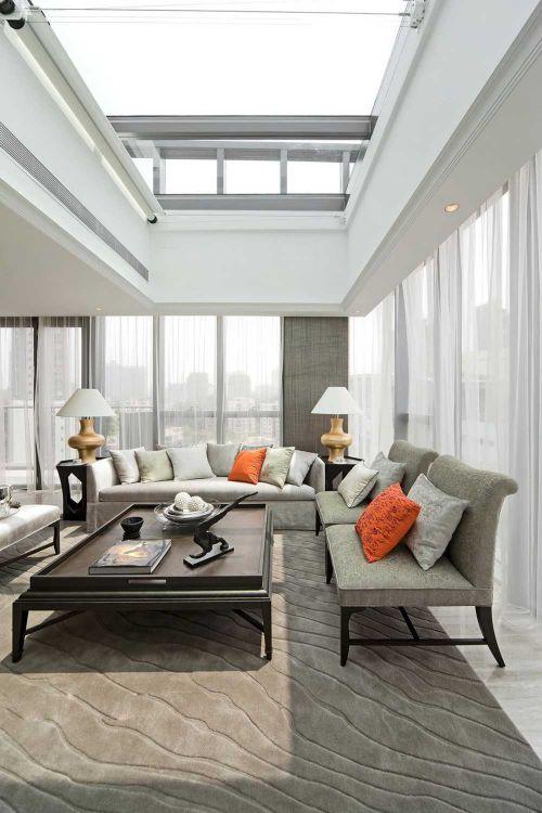 婉约时尚现代风格客厅布置