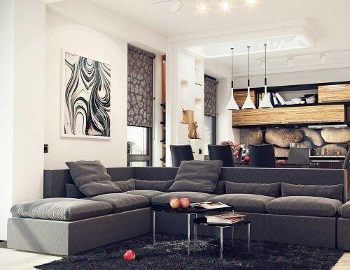 利落大气现代风格客厅装修设计