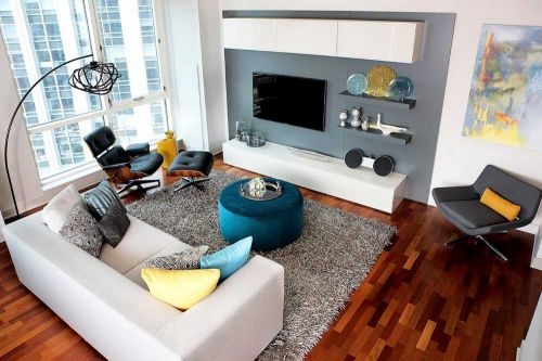 2016摩登现代风格客厅装修效果图