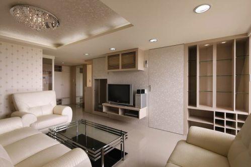 白色现代简约客厅装饰设计图片