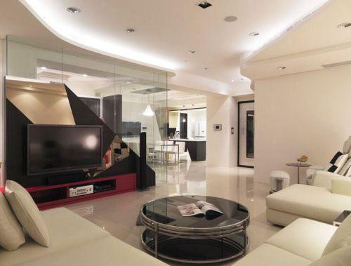 时尚现代米色雅致客厅装潢图片