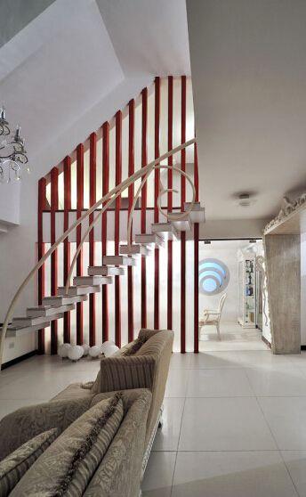 现代简约家居楼梯装潢图片