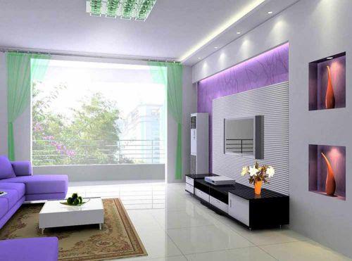 清新自然现代风格客厅装修欣赏