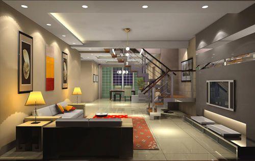 清爽现代时尚精致客厅设计图