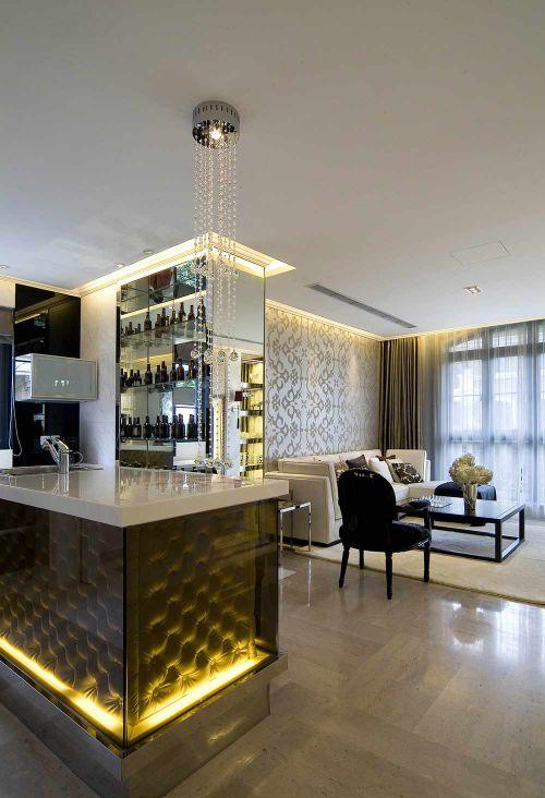 摩登现代风格客厅装饰展示