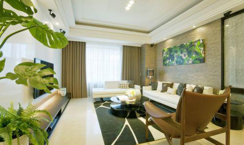 现代风格大气米色客厅设计案例