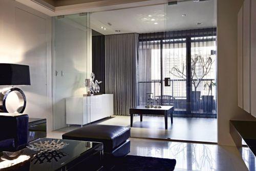 时尚现代风格黑色凝练客厅装潢欣赏