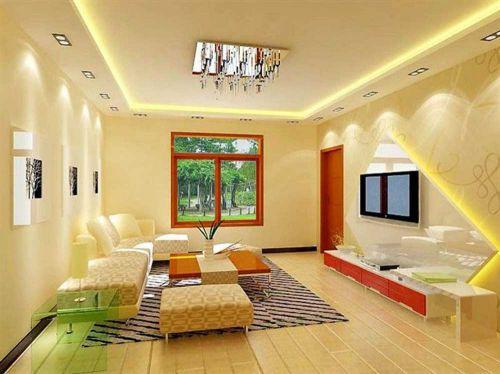 雅致清新现代客厅装潢