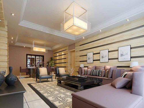 现代中式风格设计客厅装修效果图