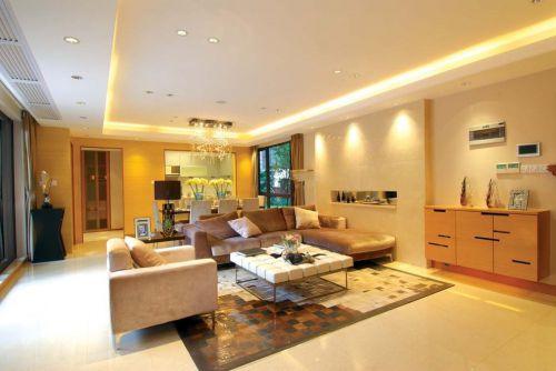 现代风格温馨黄色客厅装修欣赏