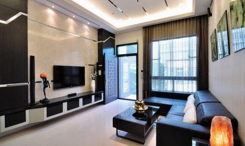 质感现代风格黑色客厅装修布置