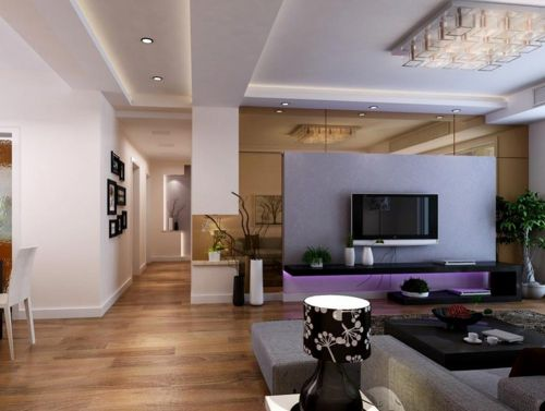 时尚现代前卫风格客厅装修效果图