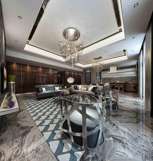 现代冷艳高贵客厅装潢