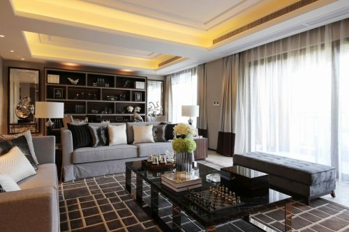 现代风格低调灰色客厅装修赏析