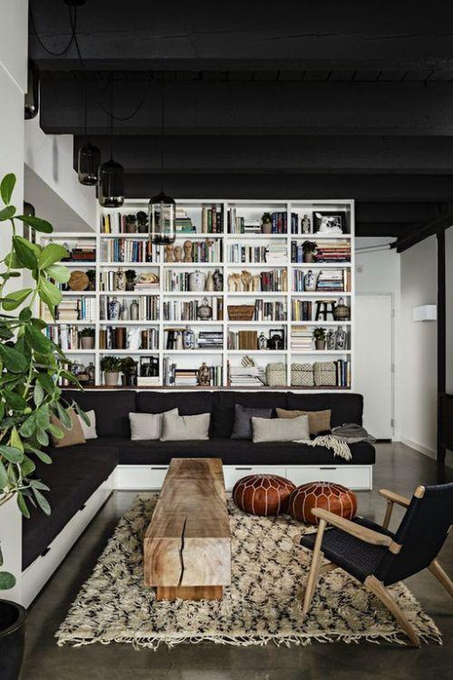 黑白经典雅致现代风格客厅装饰图