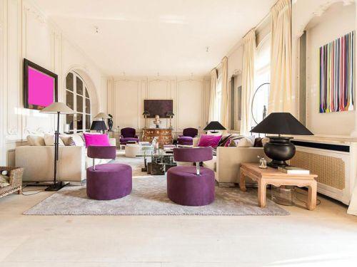 2016米色温馨现代风格客厅装修赏析