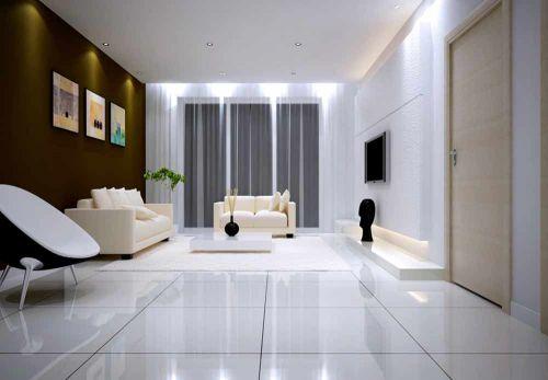纯净唯美现代风格客厅装饰布置