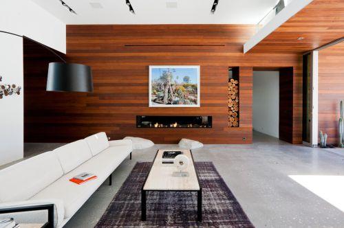 现代风格褐色大气客厅设计欣赏
