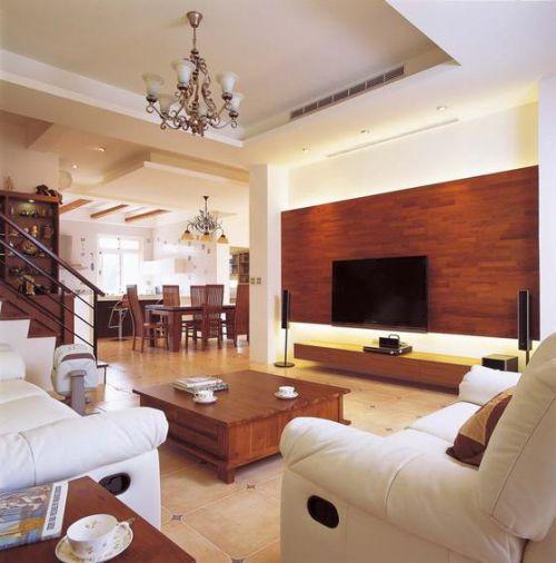 质朴现代风格客厅装修效果图片