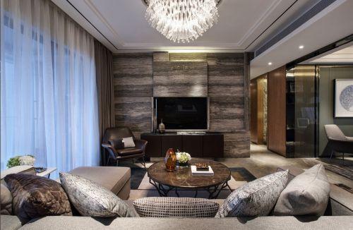 2016灰色质感现代风格客厅装修案例