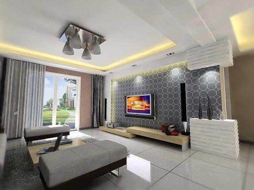 现代简洁客厅设计图欣赏