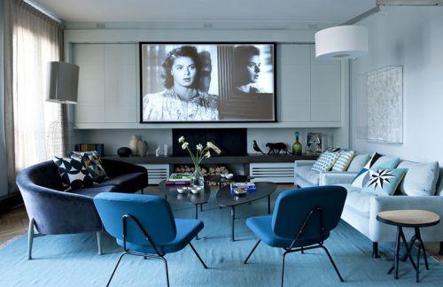 休闲舒适现代风格客厅设计欣赏