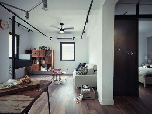 灰色工业风时尚现代风格客厅装潢设计赏析
