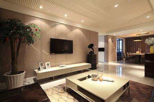 现代风格米色素雅客厅装饰案例