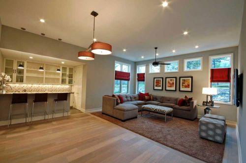创意摩登现代风格客厅效果图