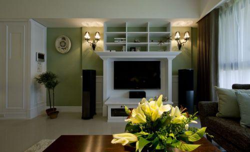 绿色优雅现代风格客厅装修设计