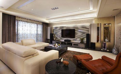 都市时尚现代2016客厅装潢装修案例