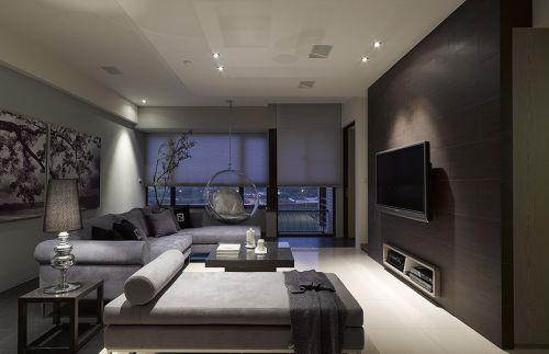 灰色大气时尚雅致现代风格客厅装潢
