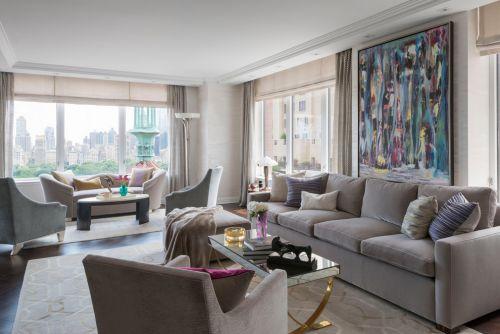 灰色素雅现代风格客厅装修案例